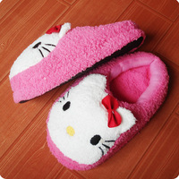 Hello kitty soft plush kt home slippers at home female slippers