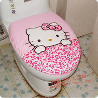 Kitty cat toilet kit bathroom 2 piece set toilet lid potty washer
