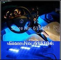 Hot 4PCS/lot 3LED Car LED Ambient Lighting Atmosphere Light Automotive Supplies Decorative Lights