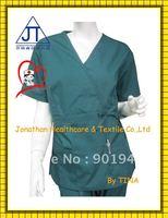 New fashion design polyester cotton nurse scrubs top uniforms
