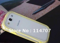 New arrival colorful bumper for I9300 Galaxy SIII , Free Shipping