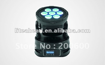 RGBW 4 in 1 Quadro LED Mini Moving Head Wash 7x10watt