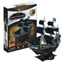 Cubicfun 3d puzzle paper Ship model jigsaw puzzle  diy toys  T4005H Black Pearl