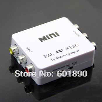 PAL/NTSC/SECAM to PAL/NTSC Video MINI Bi-directional TV Format System Converter Free shipping, wholesale #190057