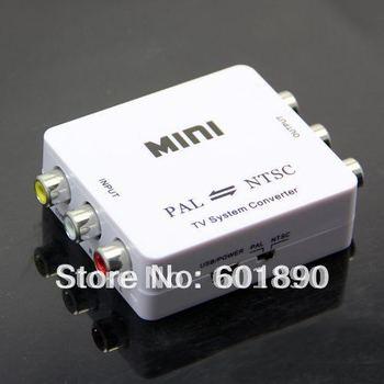 PAL/NTSC/SECAM to PAL/NTSC Video MINI Bi-directional TV Format System Converter Free shipping, wholesale #190057