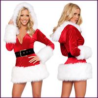 Red long-sleeve ceremonized christmas installation christmas clothes Christmas clothes uniform costume
