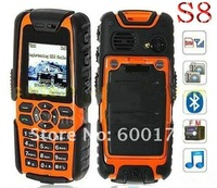 Russian keyboard!!! S8 car Mobile Phone WaterProof long ntistandby LAND Quadband Mobile Phone