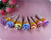 Ice cream cake gift towel ,100% cotton towel add one more fabric with opp  #W-0074