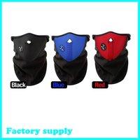 Dropshipping Free shipping skiing Motorcycle Bicycle Skating Black blue red Face Mask Thermal Neck Warmer bicycle face shield