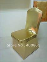 Free shipping -Metallic golden   spandex lycra chair cover /shinning metallic spandex chair cover
