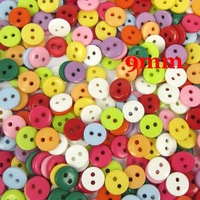 500 Pcs Random Mixed Resin Sewing Buttons Scrapbooking 9x2mm Knopf Bouton