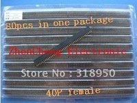 Free Shipping  80pcs 1*40P Single Row female 1X40 Pin Header Strip 2.54 mm New in tock High quality hot sale