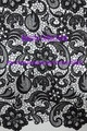 Free shipping!!! French lace,chemical lace,nice new design lace fabric BCL6028 BLACK