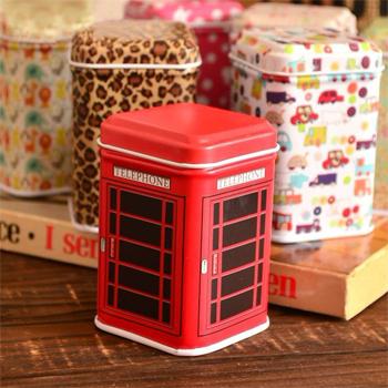 6 pcs/pack Retail Mini tin jewelry box square candy storage box 7833 (KG-02)