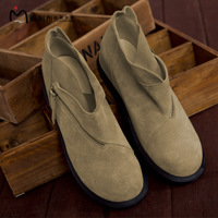 - 2012 women's shoes round toe elevator side zipper wool leather shoes m11cx04