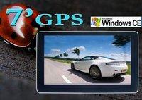 Hot selling!!! 7 inch MTK3351 car gps Navigation,4 GB Memory with Bluetooth,AV IN,FM Transmitter HD touchscreen GPS navigator