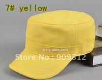 Free Shipping Korean version solid color flat cap, Leisure hat, Fashion army caps, Snapbacks hats, 9 color 10pcs/lot