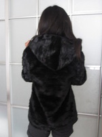 Free shipping Fur coat  mink hair wool women's casual outerwear women's fashion hooded faux fur coat clothing