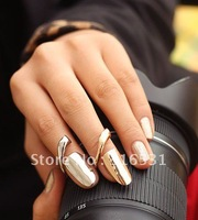 Get $6 for single orders than $99 Punk Simples Style Fashion Screw Nail Ring with Silver&Gold
