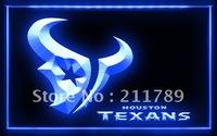 A062 B HOUSTON TEXANS NFL Football Bar Pub LED Light Sign