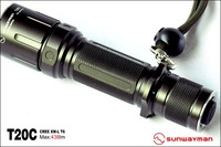 Free shipping Sunwayman T20C Cree XM-L T6 LED Waterproof Hunting Flashlight Outdoor Torch