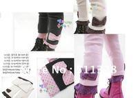 FREE SHIPPING  children clothing  girl leggins  girl bowknot thickness  leggings
