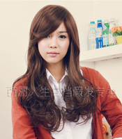 Free Shipping* A M@rt Wig! Wig quality wig oblique bangs wig long curly hair wig 8 -lbj1