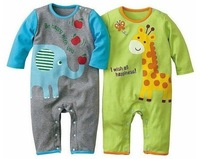 4pcs baby boys girls cartoon printed baby long-sleeved clothes, modeling rompers ,jumpsuit