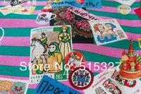 "50cm*110cm ""Candy party"" Russian Folk Dolls  Tilda Cloth Cotton Fabric  Japanese Import"