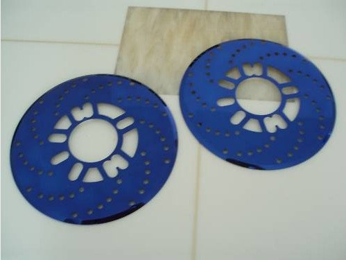Disc Brake Rotor Cover Aluminum Cross Drilled 2x Blue(China (Mainland))