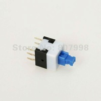 Free Shipping,50 pcs/lot,8mm x 8mm Miniature Self-locking Switch Push Rectangle Button 6 pins,Long life use