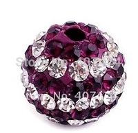 Wholesale 100pcs/lot Shamballa Disco Ball Beads 10mm Shamballa ball Clay Bead Fit Shamballa Bracelet Free shipping