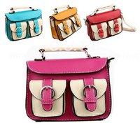 Wholesale Free Shipping 5 Pcs Girls Chirstmas Gift Chlidren Handbag Baby Bags Hot pink /Orange /Blue /Yellow 0904011-BB