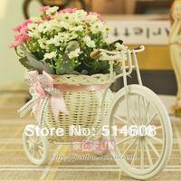 #C001 Hemp rope vast and artificial flower set home decoration wedding gift