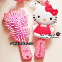 End of a single hellokitty cartoon style massage comb wooden comb