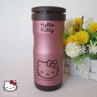 Hello kitty stainless steel thermal cup cartoon thermal cup scrub vacuum cup belt tea interval
