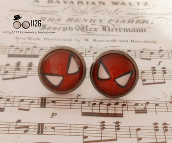 Free shipping~~ Vintage handmade Batman gem stud earring earrings&ring for Valentine's day