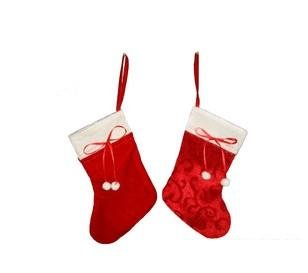 Discount Cheap Wholesale Outdoor Holiday Christmas New Year Fabric Tree Decoration Ornament 2012 Gift Sock Items