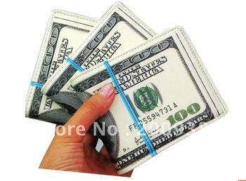 Free shipping new 10pcs/lot Fashion 100USD US Dollar Purse Wallet, Novetly Britihday Gift