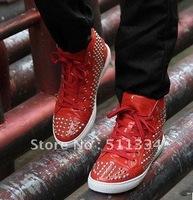 Wholesale Men's  denim spike high shoes, Fashion sneaker designers men boots flat shoes 2012 + Free shipping