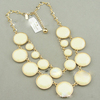 freeshipping/New style bubble necklace, collar style white resin round bead bib necklace
