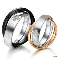 Accessories 2012 diamond rose gold titanium ring lovers ring gj186