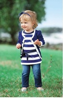 Little Princess suit shirt +jacket+ pants children autumn clothes,Three piecees suit, hot free shipping
