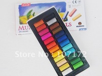 Wholesale Fashion 30 Sets 24 colors/sets Temporary Hair Chalk Color Dye Soft Pastel Chalk Bug Rub Soft Fencai Bar