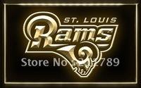 A044 B ST. LOUIS RAMS NFL Football Bar Pub LED Light Sign