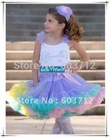 New Pettiskirt Baby Girl fluffy Chiffon pettiskirts Girl's Cute dancing tutu Skirts mix color freeshipping