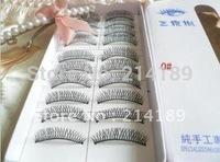 Free Shipping New 10 Pairs Black Fake False Eyelashes eye Lashes Makeup