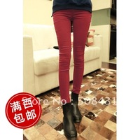 Fast Free Shipping Swiss Post  Modern Slim loose straight hole beggar women casual jeans autumn trousers