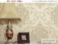 free shipping 2012 high quality glitter flocking non-woven wall paper wall covering