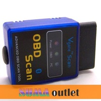 Universal Mini ELM327 Bluetooth OBD OBD2 V2.1 mini elm 327 bluetooth fit for Android Torque